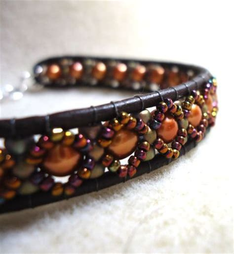 leather bracelet tutorial beading leather
