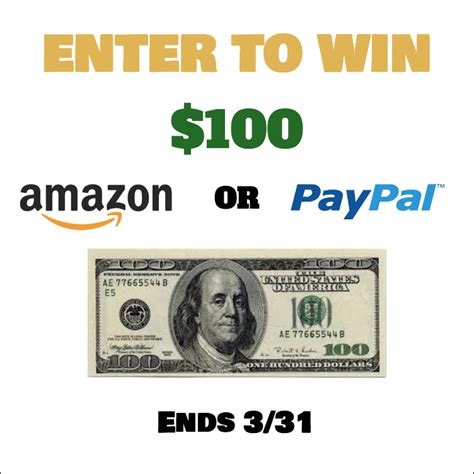 Enter To Win Money - enter to win 100 paypal cash or amazon domestic mommyhood