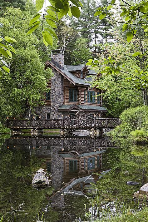 Adirondack Cottage adirondack custom handcrafted log homes by maple island
