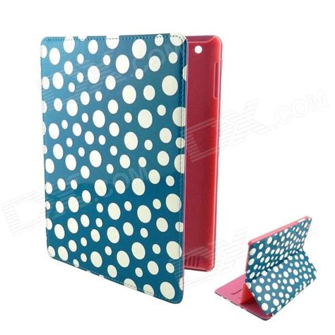 2 3 4 Polkadot Cover Leather Flip Casing Dompet Armor polka dot pattern pu leather cover stand for 2 3 4 pink blue black