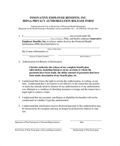 privacy release form template privacy act release form form hud 9886 authorization for
