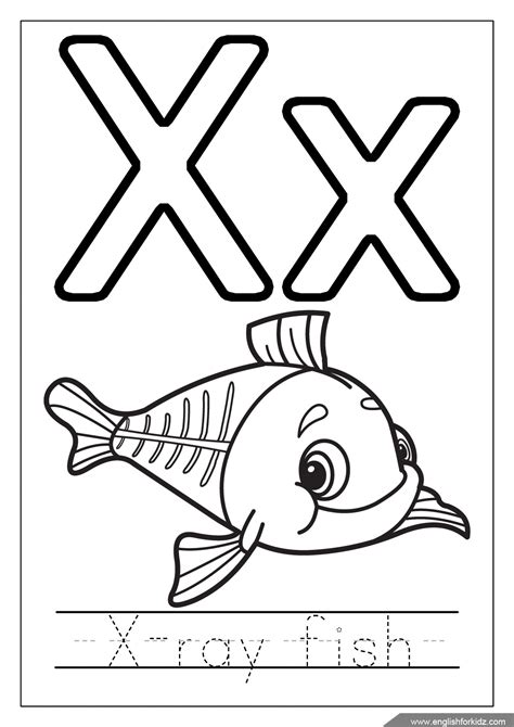 printable x ray coloring pages alphabet coloring pages letters u z