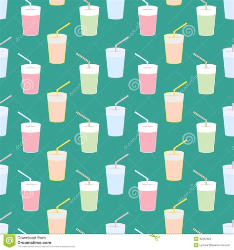 juice pattern vector pattern water and juice stock vector image 42212626