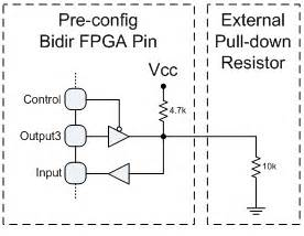pull up resistor configurations jtag strong pull ups on fpgas jtag boundary scan test tip