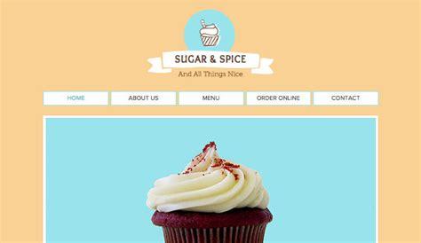 Cupcake Shop Wix Template Wix Events Template Cupcake Website Template