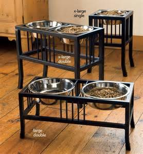 Great Dane Home Decor wrought iron raised mission style dog feeders dog bowls