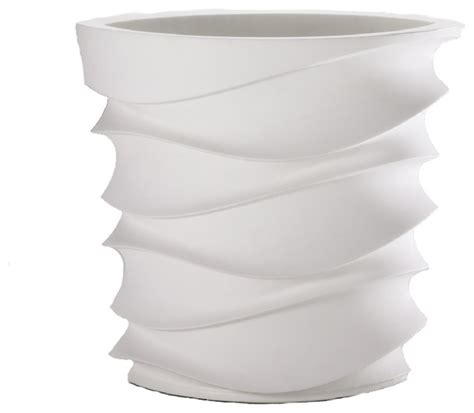 white planter pots eye am planter alpine white contemporary outdoor pots and