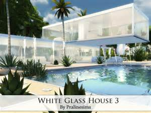 Modern Glass House white glass house 3 sims 4 houses