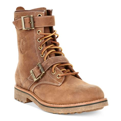 polo ralph maurice boots in brown for mid