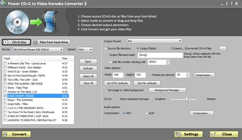 karaoke format converter online download for pc free official version power cd g burner 2