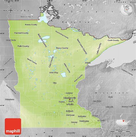 physical map of minnesota physical map of minnesota desaturated