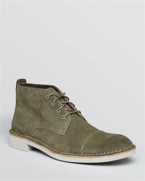 varvatos usa sid suede captoe chukka boots in green