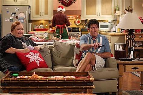 two and a half men couch charlie and berta relax tv fanatic