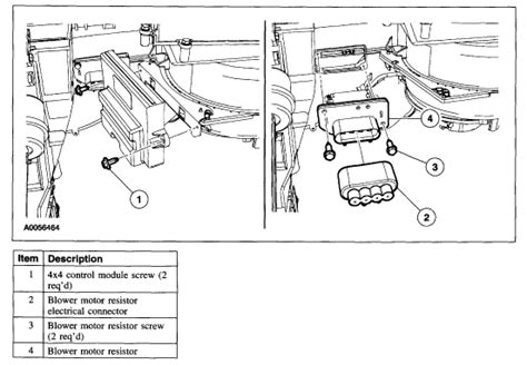 blower motor resistor location on 1999 ford ranger 1999 ford explorer blower motor resistor location 1999 free engine image for user manual