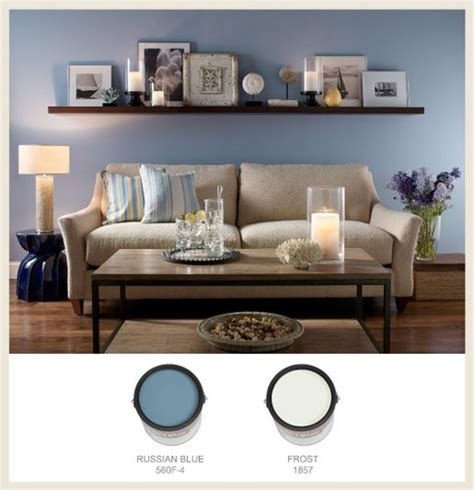 shelves over sofa casual living blue cans border living room shelves above