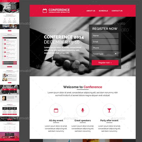event newsletter template conference event e newsletter psd template by