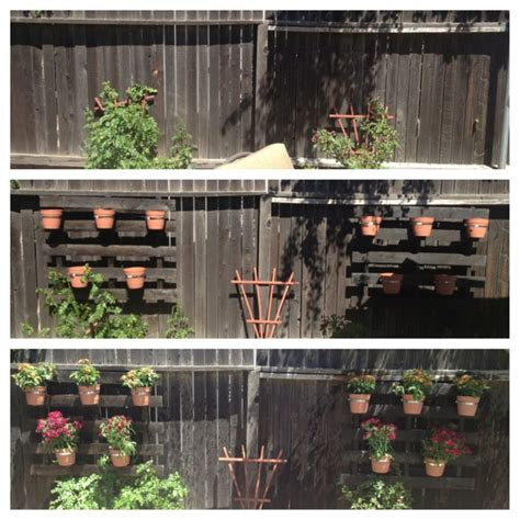 Planters On Fence by Pallet Fence Planters Diy