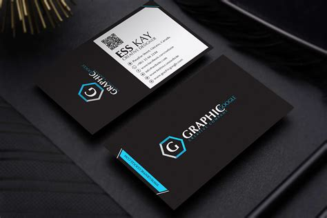 free modern black business card template design