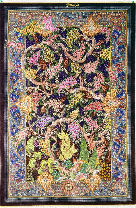 10 To Live By Rug by Qum Tree Of Silk Silk Rug Item 1417