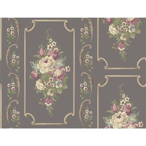 york wallcoverings casabella ii floral panel wallpaper