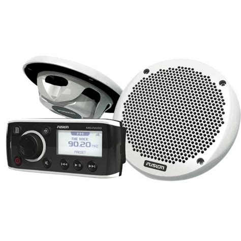 boat stereo west marine fusion ms ra50 stereo ms el602 speaker package west marine