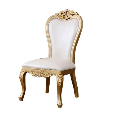 the new european style wood chairs leather chair chagne