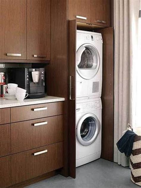 concealed laundry room design decor photos pictures wooden hidden laundry cabinet