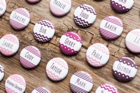 Hochzeit Namen by Button Cards Wedding Name Tags Place Card Pins