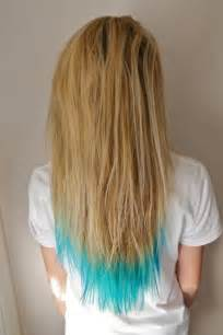 hair coloring tips light blue tips hairstyles how to