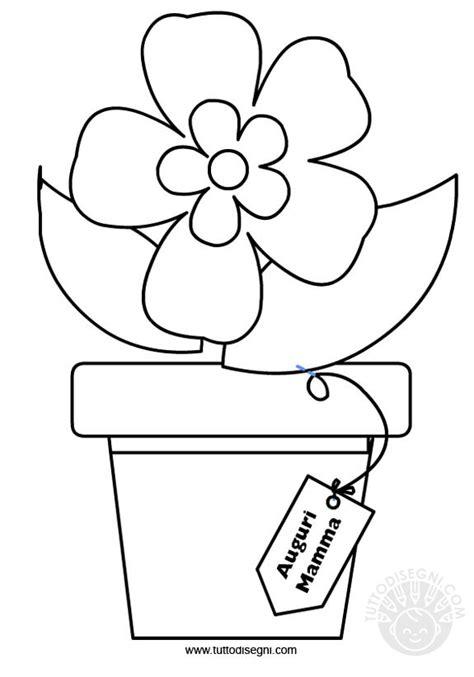 vaso di fiori da colorare vaso con fiore da colorare tuttodisegni