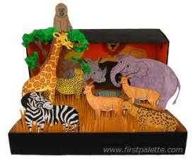 african savanna habitat diorama craft kids crafts
