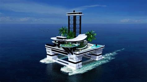 Futuristic Bathroom by Kokomo Island Opulent Man Made Island By Migaloo Submarines Homecrux