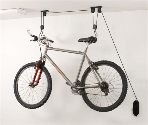 Ceiling Mounted Bike Lift by Ceiling Bike Storage Lift Hang Cycle Bicycle Garage Shed