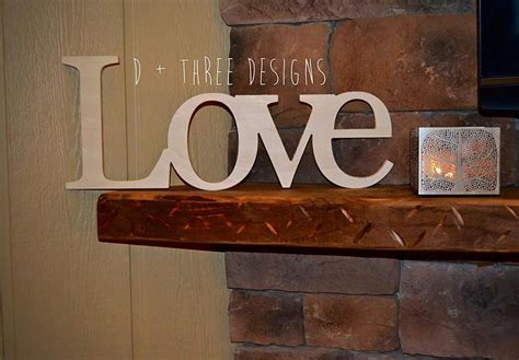 Love Home Decor Sign by Love Sign Wooden Letters Home Decor Wooden Phrase Shelf