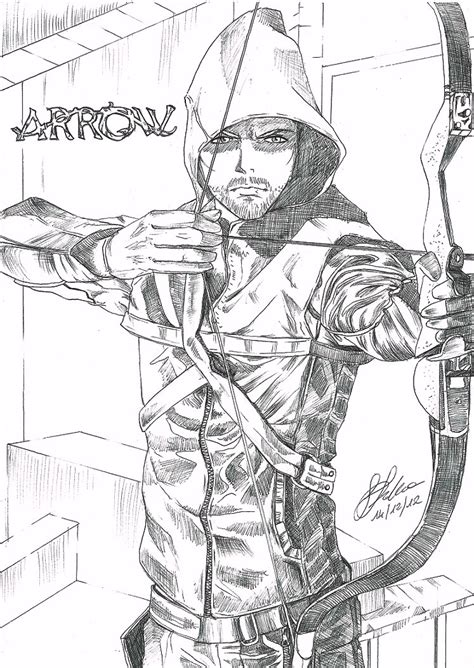 Mobile Cw Green Arrow Coloring Pages Green Arrow Coloring Pages