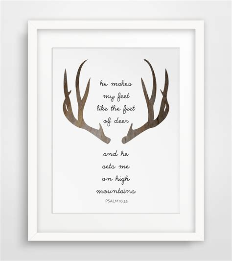 deer bible verse deer prints modern by melindawooddesigns