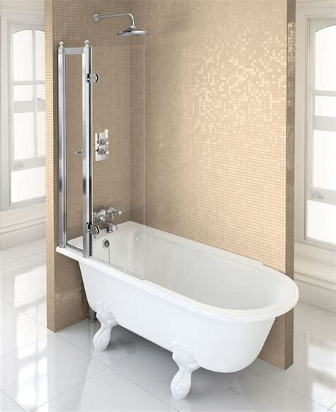 roll top bath shower screen 35 burlington bathrooms in stock and available at bathroom city
