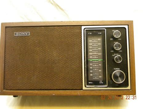 best table radio sony table top radio am fm radio