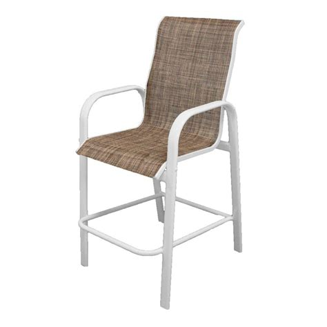 White Sling Patio Chairs by Polywood Bayline Textured Silver White Avocado Sling Patio