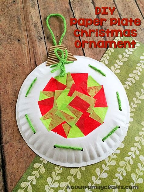 paper plate ornament decoration about family