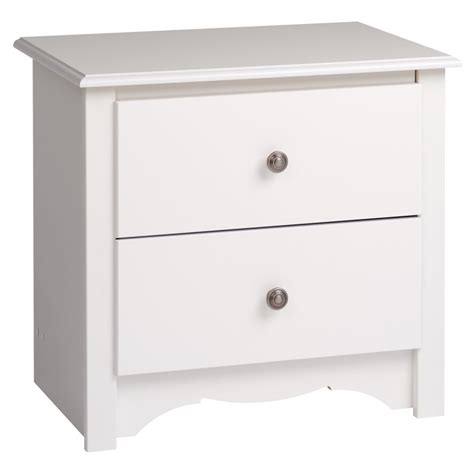 white nightstand with wood drawers white finish nightstand wooden bedside table 2 drawer end
