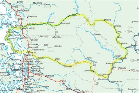 Map Lop Air Mail B5 washington s cascade loop scenic driving tour