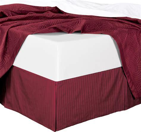 bed skirt with split corners cotton split corners damask stripe 300tc 14 quot drop bed