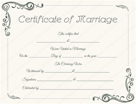 marriage license template marriage certificate templates printable certificate designs