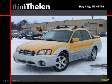 yellow subaru baja 2003 baja yellow subaru baja 44736583 photo 4 gtcarlot