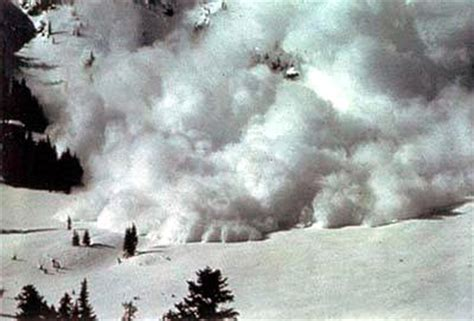 Disasters Up Avalanches disasters on volcanoes tornados and storms