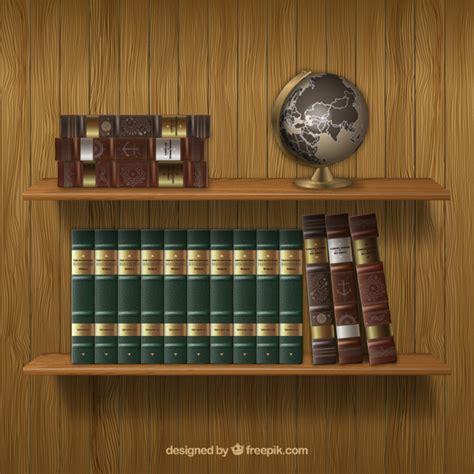 estantes para libros gratis estantes con libros antiguos descargar vectores gratis