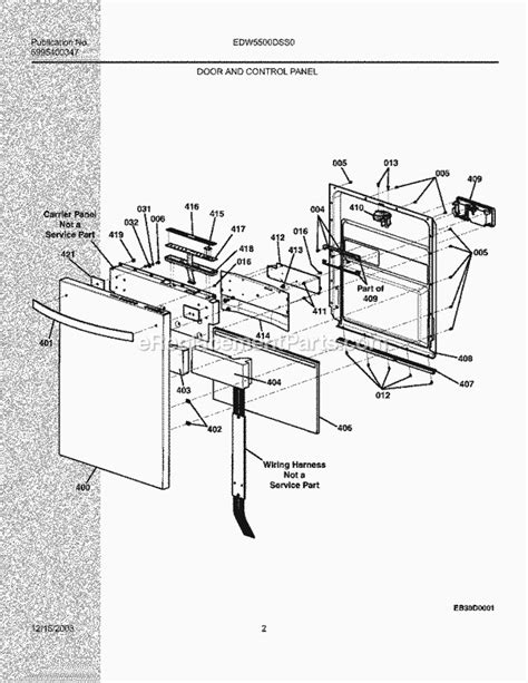 electrolux dishwasher parts diagram electrolux edw5500dss0 parts list and diagram