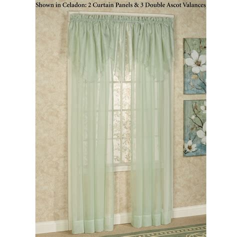 double window valance window valances treatments emelia sheer voile double ascot valance window treatment