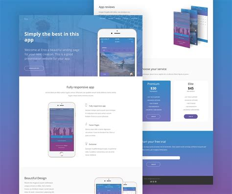 layout site app mobile app website template psd download download psd